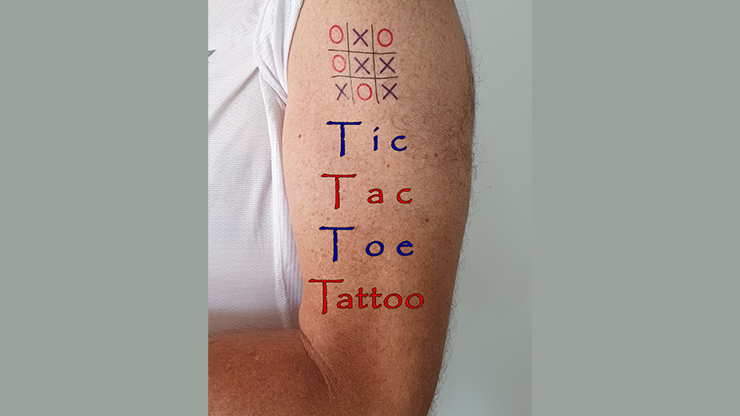 Tic Tac Toe Tattoo by Eran Blizovsky