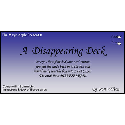 Disappearing Deck (Blue Bicycle) by Ron Wilson*