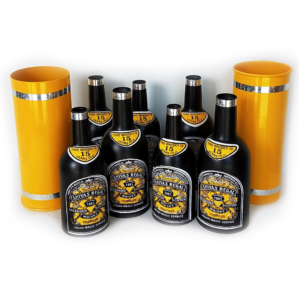 Multiplying Bottles Set of 8 - Spun Aluminum