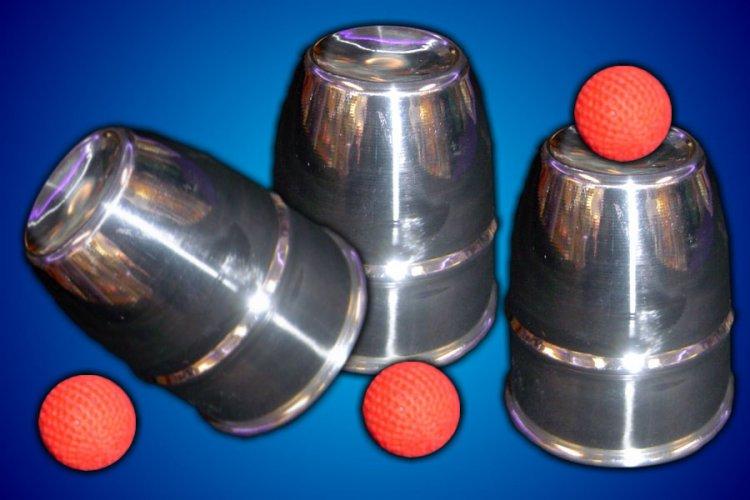 Chop Cup Combo Cups and Balls - Aluminum