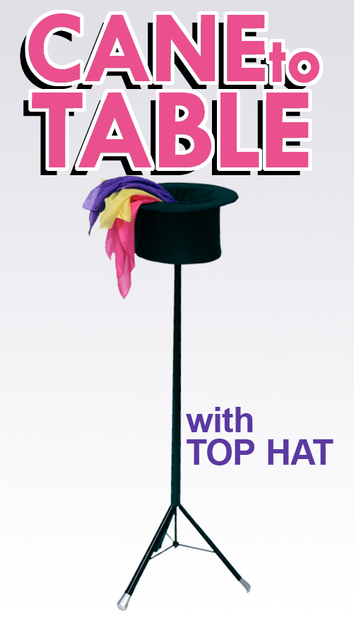 Cane to Table with Folding Top Hat