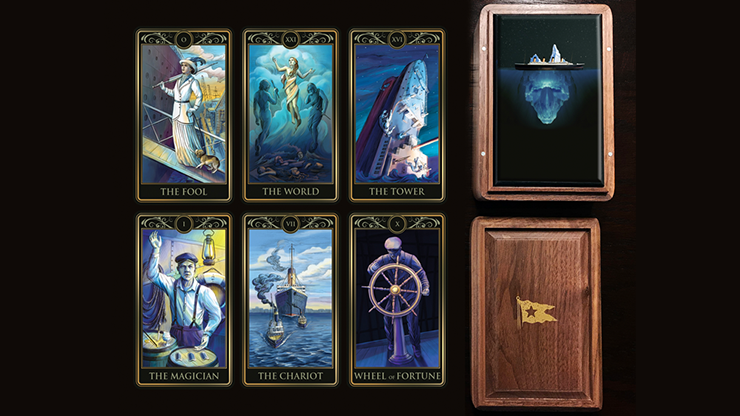 Deluxe Titanic Tarot Cards (Wood Box and Boarding Pass)