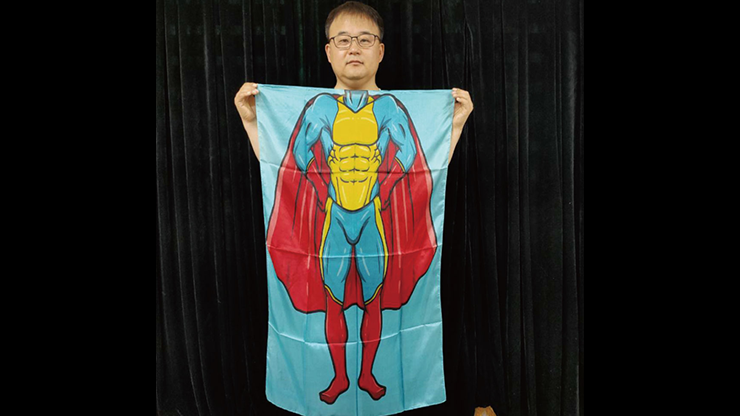 Character Silk (Super Boy) 35 X 43  by JL Magic