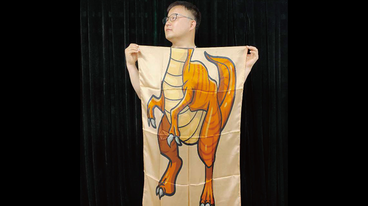 Character Silk (Dinosaur) 35 X 43  by JL Magic