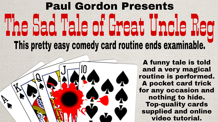 The Sad Tale of Great Uncle Reg  by Paul Gordon