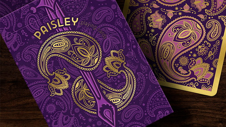 Collector`s Paisley Royals Purple (Numbered Seals)  Playing Cards by Dutch Card House Company