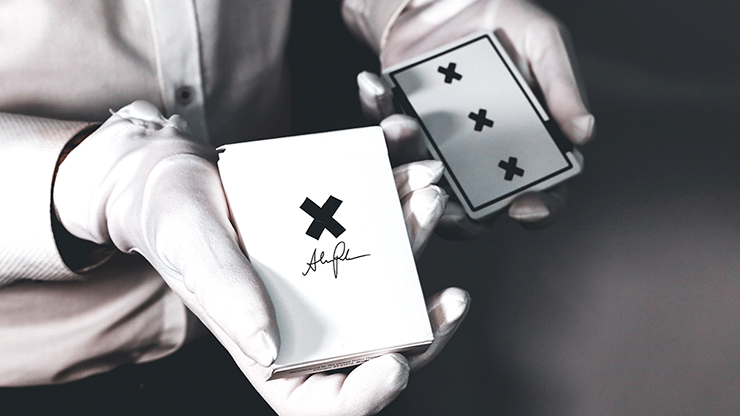X-Deck-White-Signature-Edition-Playing-Cards-by-Alex-Pandrea