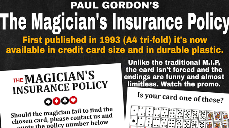 The Magician`s Insurance Policy by Paul Gordon