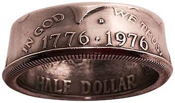 half dollar ring by Diamond Jim Tyler
